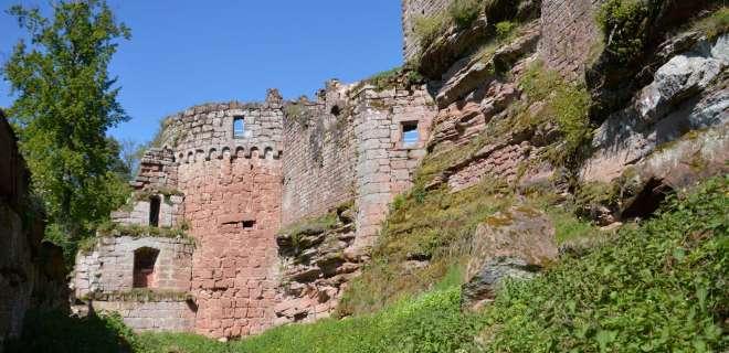 Randonnée du château de Lutzelhardt aux châteaux du Schoeneck et du Wineck- image